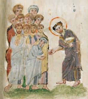 Évangéliaire Rabbula, f. 11v [586]
