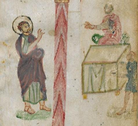 Évangéliaire Rabbula, f. 12v [586]