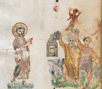 Évangéliaire Rabbula, f. 8v [586]